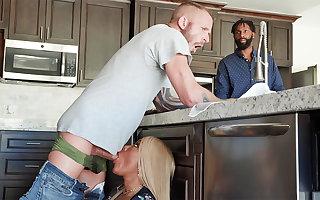 Hubby's mate enjoyed to bang arse black